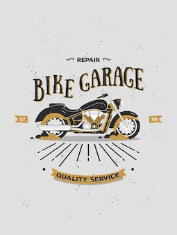 Logotype of vintage motorcycle.