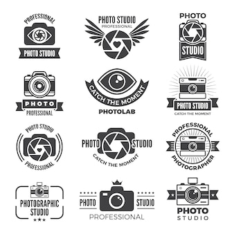 Logotypes and symbols of photo studios