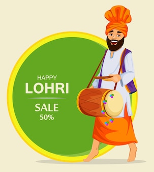 Lohri festival sale background