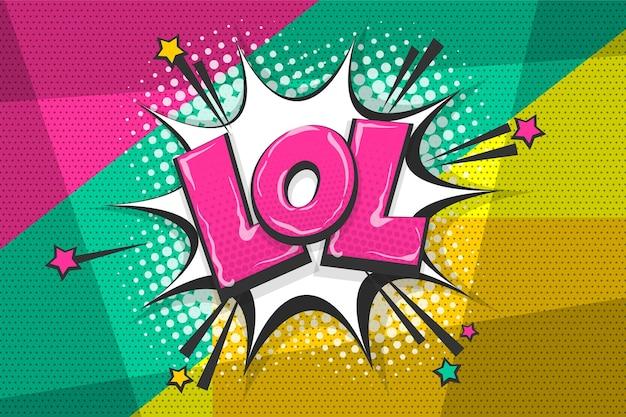 Lol смешной вау цветной комикс сборник текста звуковые эффекты в стиле поп-арт речи пузырь