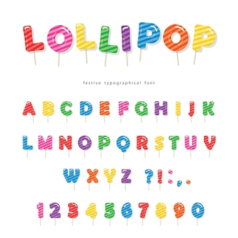 Lollipop candy font.