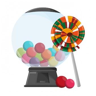 Lollipop and gums dispenser crystal ball