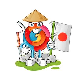 Японская иллюстрация леденца на палочке