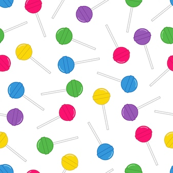Lollipop seamless pattern vector design