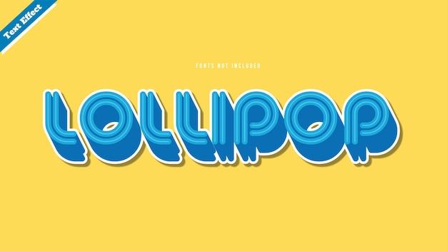 Lollipop text effect design vector