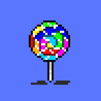 Lollipop with pixel art style