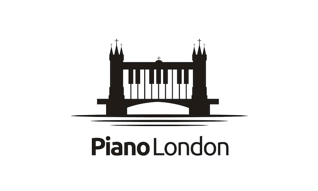 London / bridge piano logo design inspiration