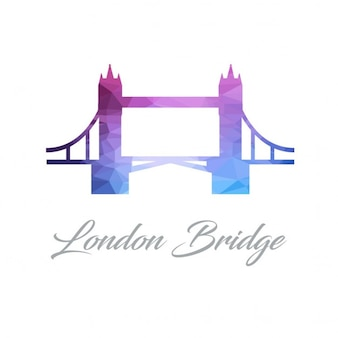 Astratto logo monumento per il ponte di londra fatta di triangoli
