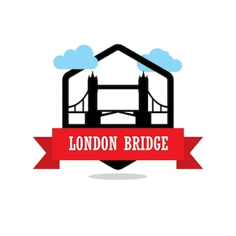 London bridge, silhouette