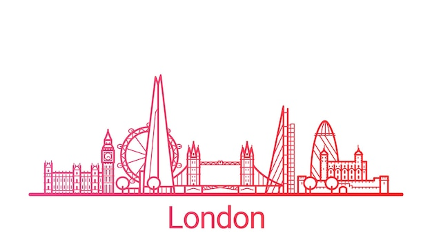 Цветная градиентная линия города лондона