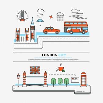 Лондон город плоский дизайн