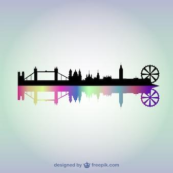 Лондон фоне городской пейзаж вектор