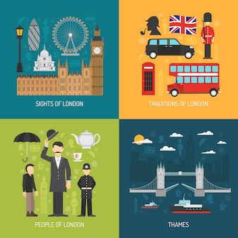 London concept vector image
