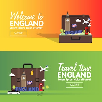 London, england vector travel destinations icon set, info graphic elements for traveling to england.