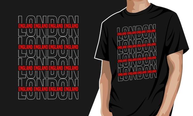 London-プリント用グラフィックtシャツ
