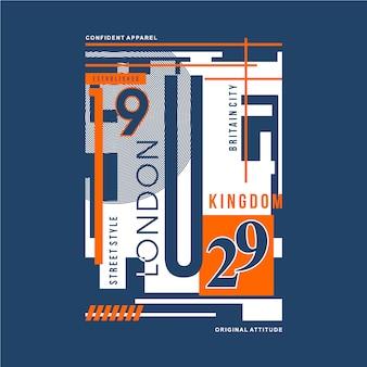 Лондон графическая типографика для дизайна футболки и другого использования
