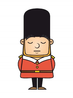 London guard isolated over white background vector illustration