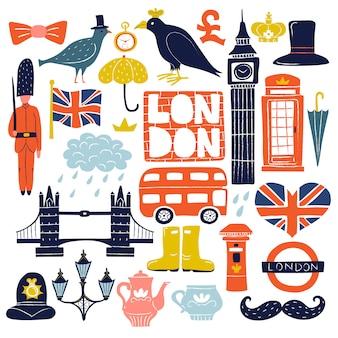 Набор достопримечательностей лондона