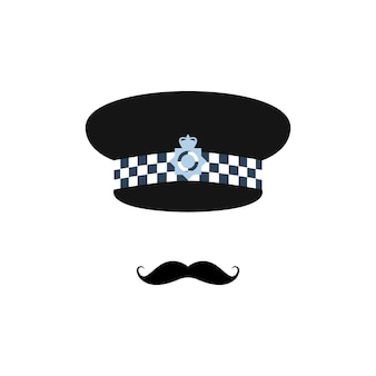 London police officer on white background
