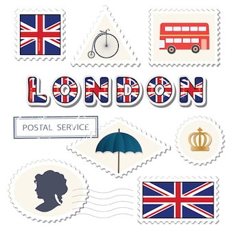 London postage set