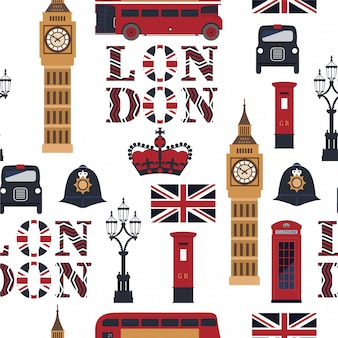 London's seamless pattern.