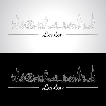 London skyline with all famous buildings