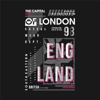 Лондон, столица англии, типографская иллюстрация, хорошо подходит для печати на футболке