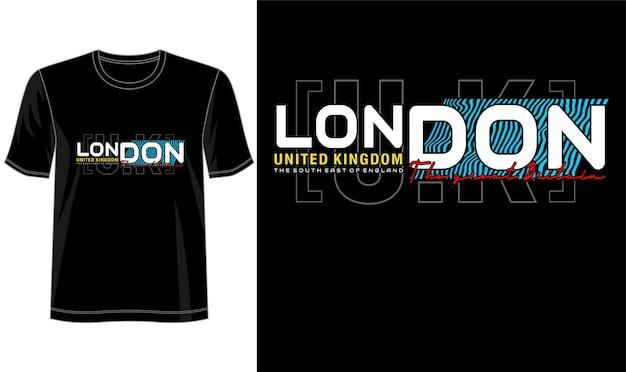 プリントtシャツなどのロンドン英国デザイン