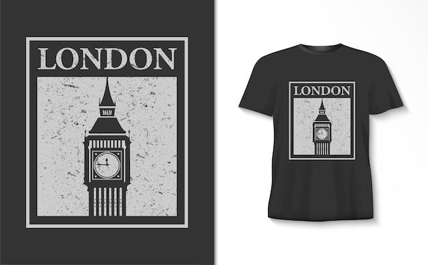 빅 벤 tshirt와 런던