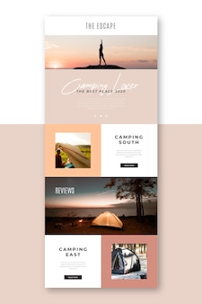 Long blogger email template