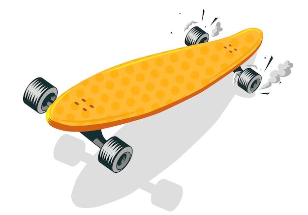 Long board cool comic cartoon   illustration