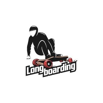 Long boarding downhill logo