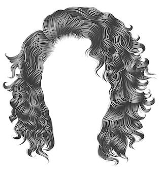 Длинные вьющиеся волосы серого цвета. парик.