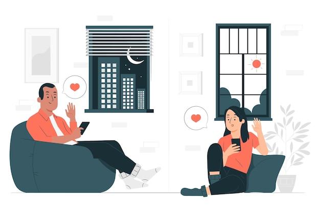 Иллюстрация концепции отношений на расстоянии