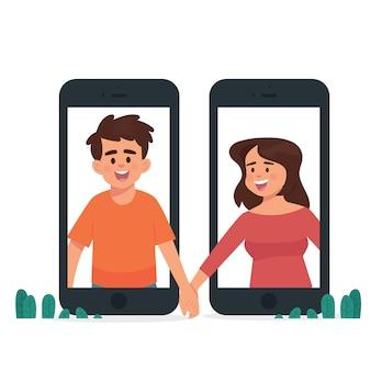Long distance relationship concept