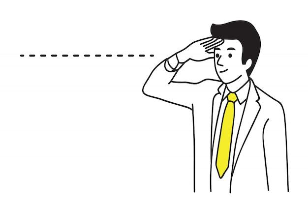 Long distance vision businessman