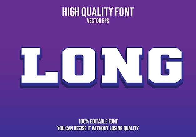 Long  editable text effect