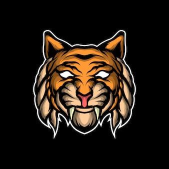 Long fang tiger illustration