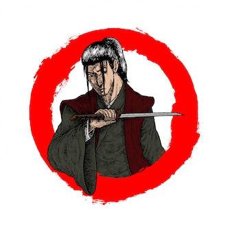 Long hair ronin