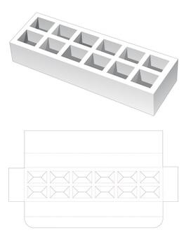 長方形のニデダイカットテンプレート付きの長いインサートボックス