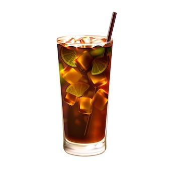 Long island ice tea cocktail realistic