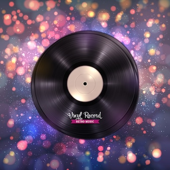 Long-playing lp vinyl records music background