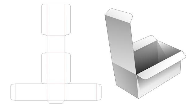 長い長方形のパッケージのダイカットテンプレート