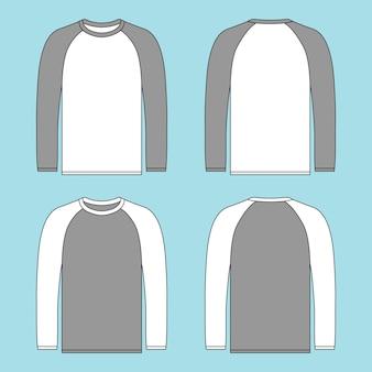 Long sleeve raglan t shirt illustration