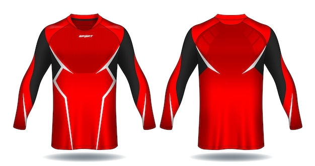 Long sleeve soccer jersey template.sport t-shirt design.