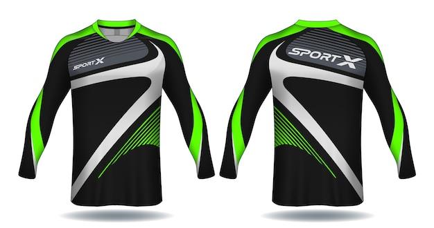 Long sleeve soccer jersey template.sport t-shirt design.