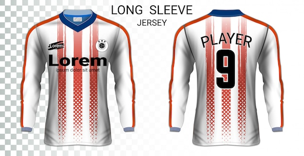 Long sleeve soccer jerseys