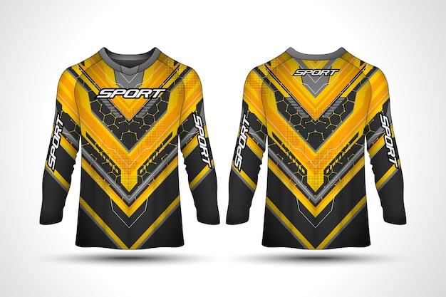 Long sleeve t-shirt design template, racing sport motorcycle jersey ,  shirt design