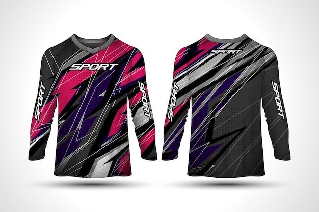 長袖tシャツデザインテンプレート、レーシングスポーツバイクジャージ、シャツデザイン