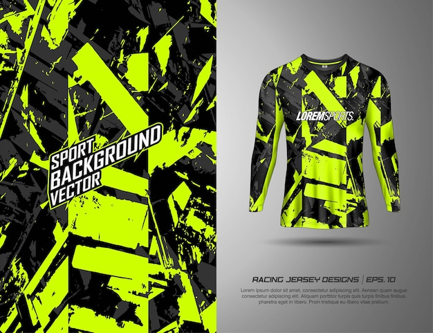 Long sleeve, t-shirt sports design for racing, jersey, cycling, football, gaming